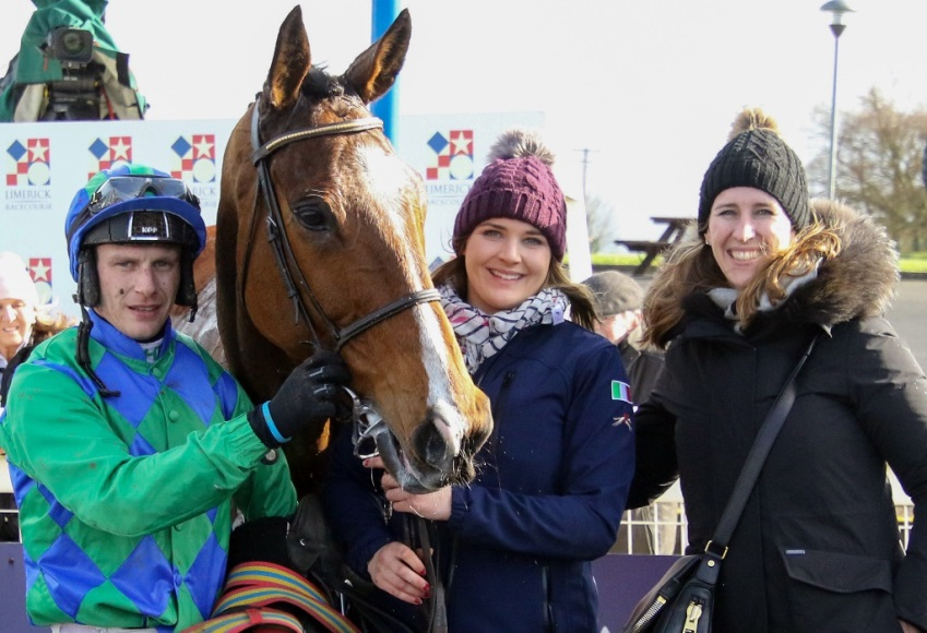Carefully Selected and Paul Townend with Margaret Masterson after winning the 'Limerick Racecourse Maiden Hurdle at Limerick - Alain Barr - 17.03.2019