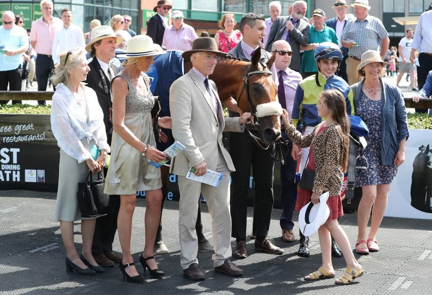 Fairyhouse Sun 14 July 2019 Surrounding with Ronan Whelan and The Newell Family after winning The Irish Stallion Farms EBF Brownstown Stakes Photo.carolinenorris.ie