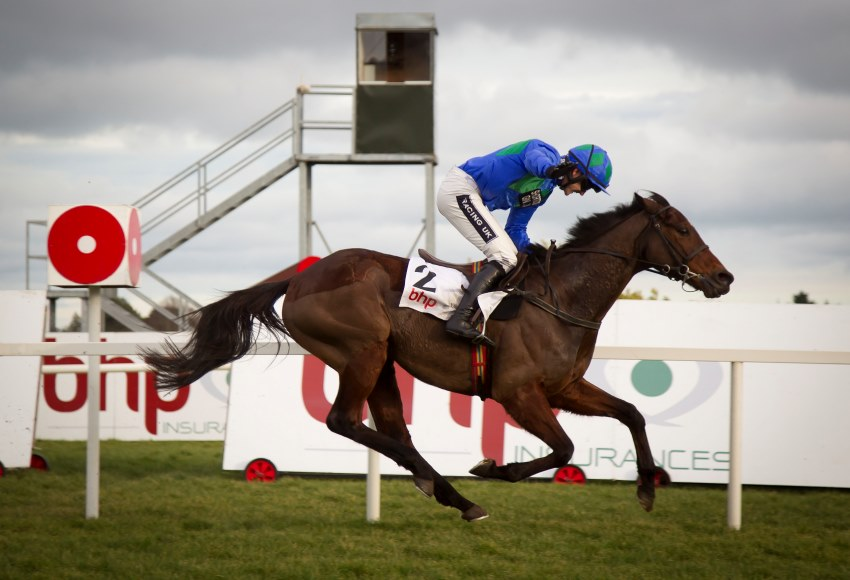 Hurricane Fly and Ruby Walsh win a fifth Irish Champion Hurdle Leopardstown Photo: Patrick McCann 25.01.2015